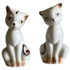 Vintage Kitten Porcelain Salt and Pepper Shakers Free Shipping