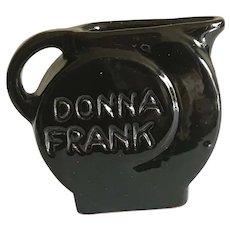 Rare Donna Frank Frankoma 1952 Christmas Card Pottery Piece