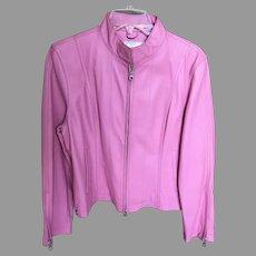 Vintage Pink Biker Girl Wilson Leathers Jacket
