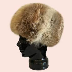 Vintage Coyote Fur Hat From Canada