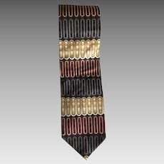 Vintage Italian silk wide tie