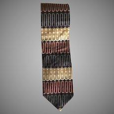 Vintage Wide Italian silk Necktie