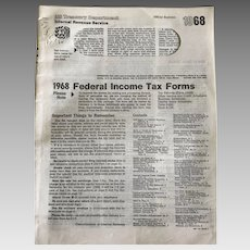 1968 Federal Income Tax Forms booklet