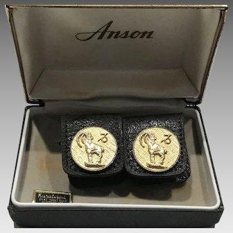 1960s Mod Era Aries sign of the Zodiac cufflinks
