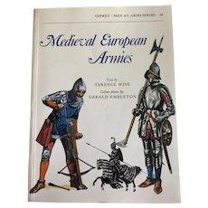 Medieval European Armies paperback book