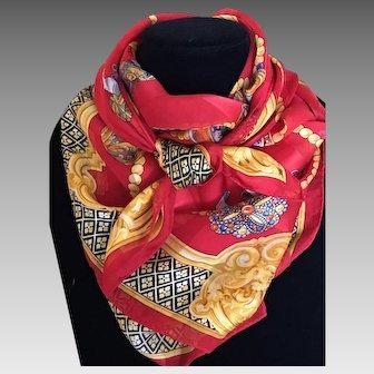 Vintage Junko Shimada silk scarf