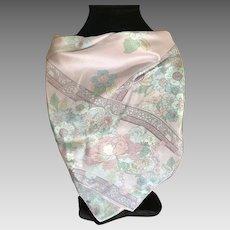 Vintage pale pastel silk scarf Liz Clairborn