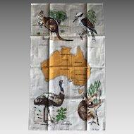 Vintage Australian linen tea towel