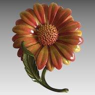 Vintage flower power brooch / pin