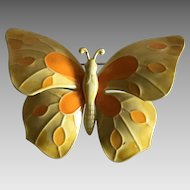 Vintage psychedelic mod butterfly pin / brooch