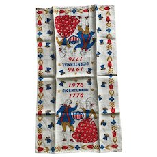 Vintage USA Bicentennial 1776 - 1976 tea towel