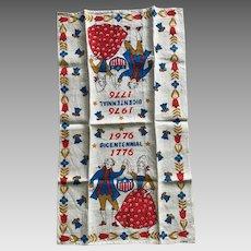 Vintage USA Bicentennial 1776 - 1976 tea towel