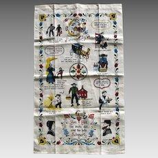 Vintage Kay Dee Amish life sayings tea towel