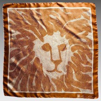 Vintage classic Anne Klein dotted lion logo scarf