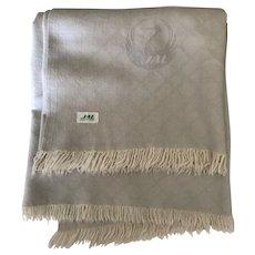 Vintage Japan Air Lines wool blanket