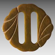 Vintage carved bakelite scarf or sash slide