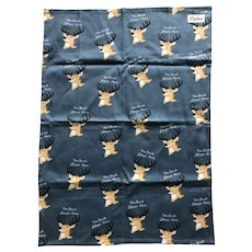 The Buck Stops Here cotton kitchen towel