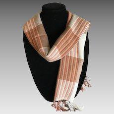 Vintage Woven Silk Scarf