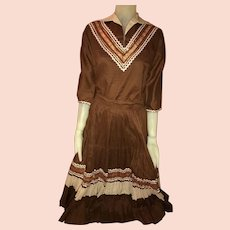 Vintage 1950s Western Wear Square Dance Skirt and Blouse set Mid Century Patio Outfit