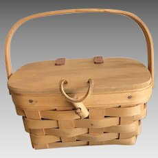 Miniature Longaberger Basket with lid and handle
