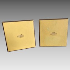 Vintage Hermes Caleche Yellow and Gold Boxes