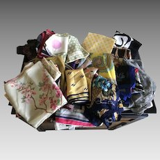 Bundle of 48 scarves for quilting or doll clothes