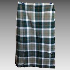 Vintage Ladies Tartan Plaid Kilt Skirt