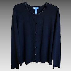Vintage Navy Blue Koret Cardigan