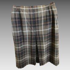 Vintage Tartan Plaid Scottish Wool Skirt