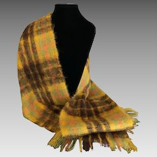 Vintage Mohair blend Scarf in Fall Leaves Colors