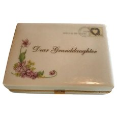 Dear Granddaughter Heirloom Porcelain Music Box / You are so Beautiful