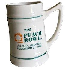 1988 Peach Bowl Ceramic Porcelain Stein Mug NC State beats Iowa