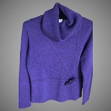 Vintage Cashmere Ultra Violet Sweater SZ S