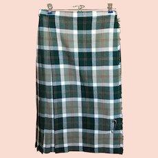 Authentic Ladies Wool Tartan Plaid Kilt Skirt Made in Scotland