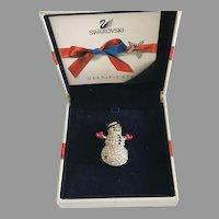 Swarovski Pave Crystal Snowman Pin