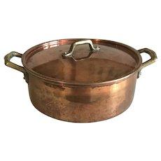 Vintage Copper Pot with Lid