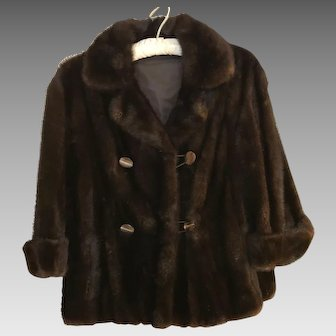 Vintage Double Breasted Mink Jacket