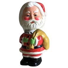 Mid Century Santa Bobble Head Bank 1