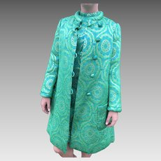 Vintage Pat Sandler Brocade Dress and Coat