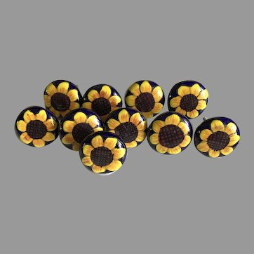 Vintage Talavera Pottery Sunflower Pulls for Drawers / Cabinets 10