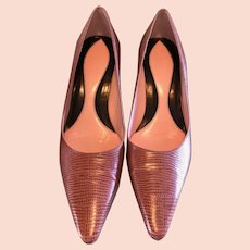 Dark Pink Lizard Cole Hahn Heels