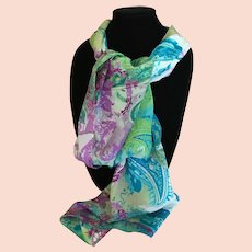 Marbled Silk Cynthia Rowley Rectangular Scarf
