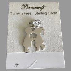 Danecraft Sterling Silver First Kiss Charm