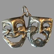 Sterling Silver Comedy and Tragedy Charm