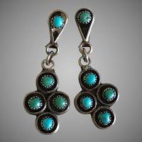 Vintage Zuni Petite Point Earrings
