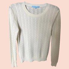 Vintage White Cashmere Sweater SZ M