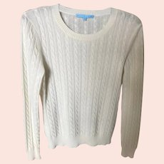 Vintage Winter White Cashmere Sweater SZ M