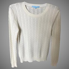 Vintage Winter White Cashmere Sweater SZ M