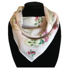 Vintage Laura Ashley Pink Cotton Scarf