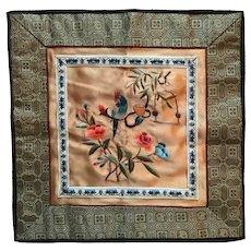 Chinese Yue Embroidery Silk  Needlework Pet Bird